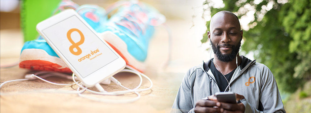 Keep your fitness in your hands with Orange Shoe Mobile APP